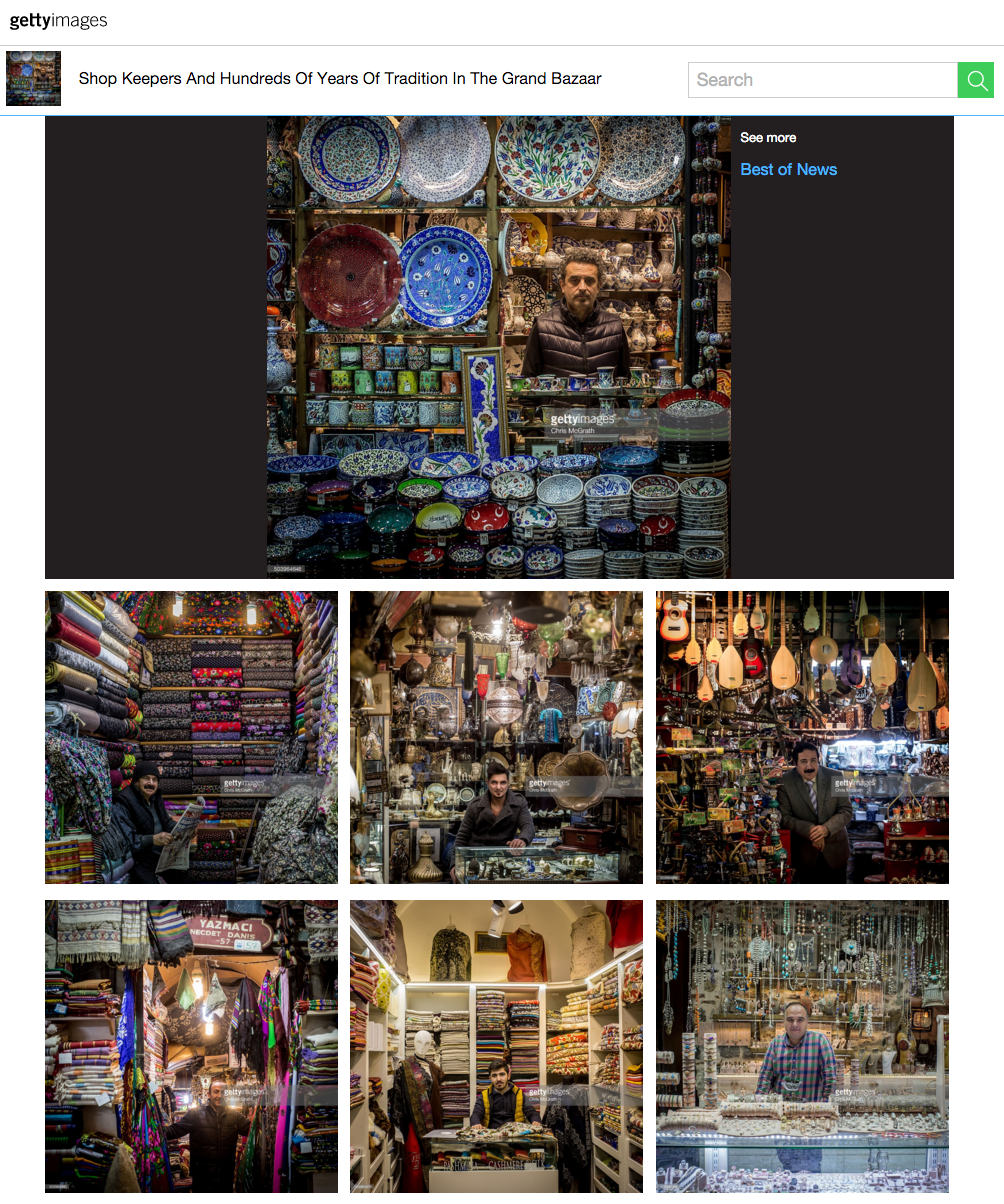 Recent portrait series of shop owners at Turkey
